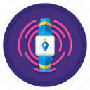 communication, message, tracker, wearable icon