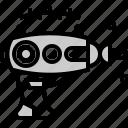 alien, future, gun, machine, pistol, technology, weapon icon