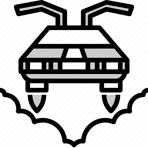 car, fly, flying, future, mechanic, technology, transport icon