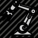 arm, engineer, machine, mechanic, robot, technology icon