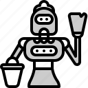 clean, electronic, home, maid, robot, science icon