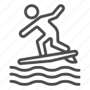 surf, sport, surfer, surfing, wave, human