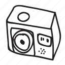 action camera, camera, drawing, electronics, gadget, gopro, hand drawn icon