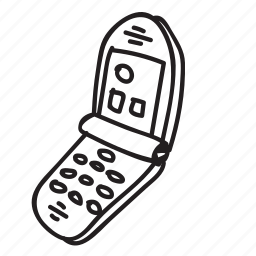 cellphone, doodle, drawing, electronics, gadget, hand drawn, phone icon