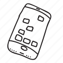 doodle, drawing, electronics, gadget, hand drawn, iphone, smartphone icon