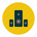 audio, device, gadget, media, music, sound, speaker icon