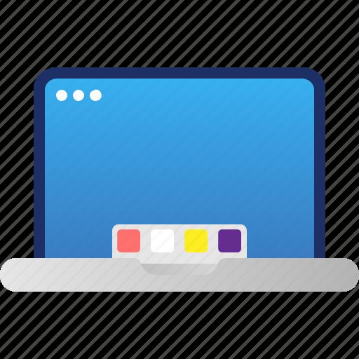 computer, device, electronics, gadget, laptop, macbook, tech, technology icon