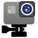 camera, electronic, gadget, gopro, photo, self, technology icon