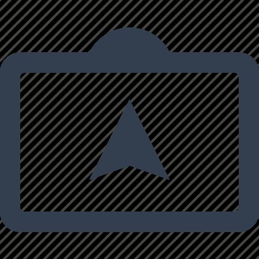arrow, device, gadget, gps, map, media, navigation icon