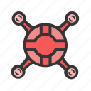 flight, fly, gadgets, geek, quadrocopter icon