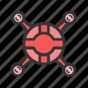 fly, gadgets, geek, quadrocopter, flight icon