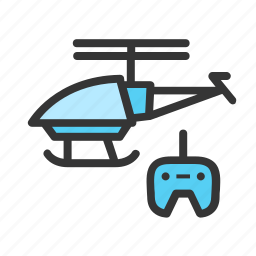 controlled, fly, gadgets, geek, helicopter, radio, toy icon
