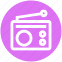 communication, device, media, radio, retro icon