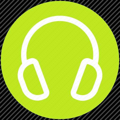 Earphone, headphone, headset, listen, music, telemarketer icon - Download on Iconfinder