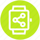 connection, gadget, network, smart watch, watch icon