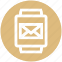 email, envelope, gadget, message, smart watch, watch