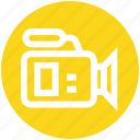 camcorder, camera, film, movie, record, video camera icon
