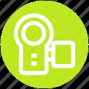 camcorder, camera, film, handycam, movie, video recording icon