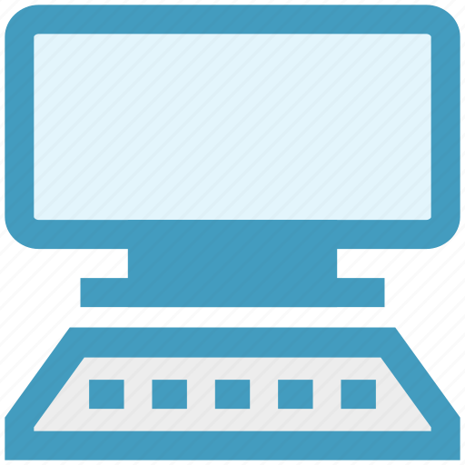 computer, display, keyboard, lcd, technology, working icon