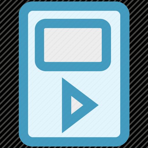 device, gadget, media, mp3, multimedia, play icon