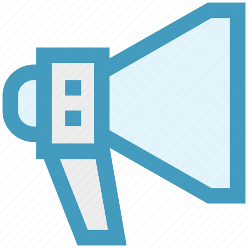 advertising, announcement, loudspeaker, marketing, megaphone, promotion icon