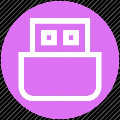 dongle, drive, flash, plug, plugin, usb icon