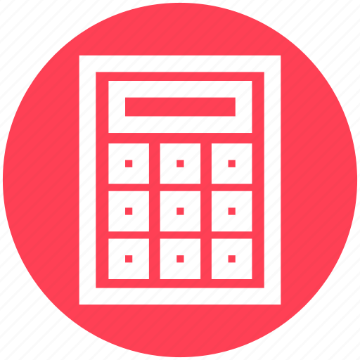 calculation, calculator, gadget, math, numbers icon