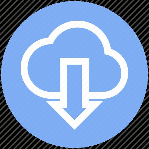arrow, data, down, down arrow, download, loud, storage icon