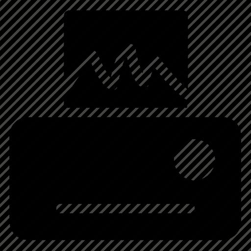 device, paper, print, printer icon