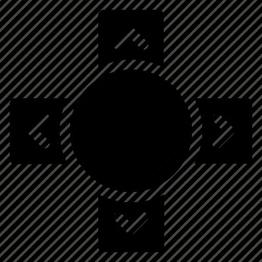 arrow, chevron, control, remote icon