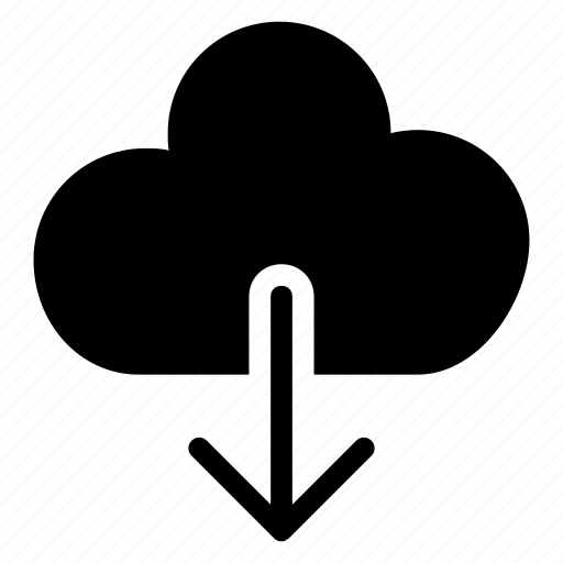 cloud, database, download, server icon