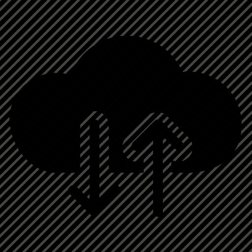 cloud, download, server, upload icon