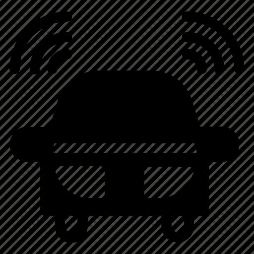 car, transport, vehicle, wireless icon