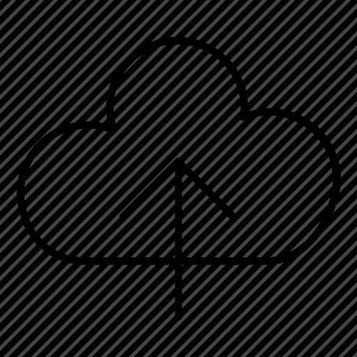 cloud, server, storage, upload icon