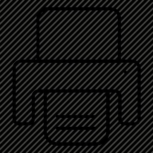 device, fax, paper, printer icon