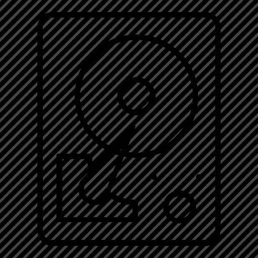 disk, harddrive, portable, storage icon