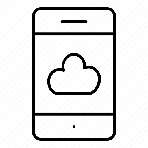 cloud, mobile, phone, server icon