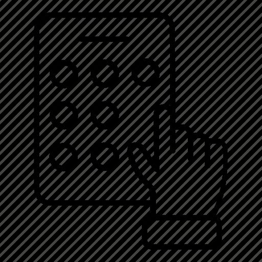 lock, mobile, pattern, phone icon