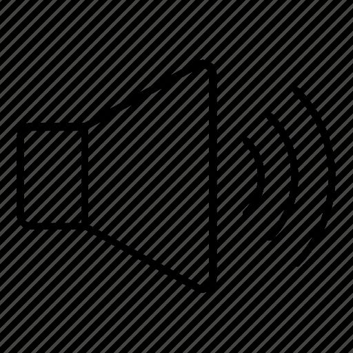 high, sound, up, volume icon