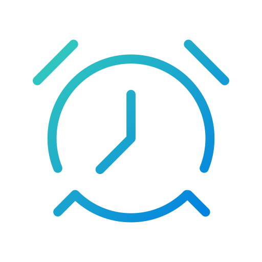 alarm, app, morning, notification, open line, reminder, task icon