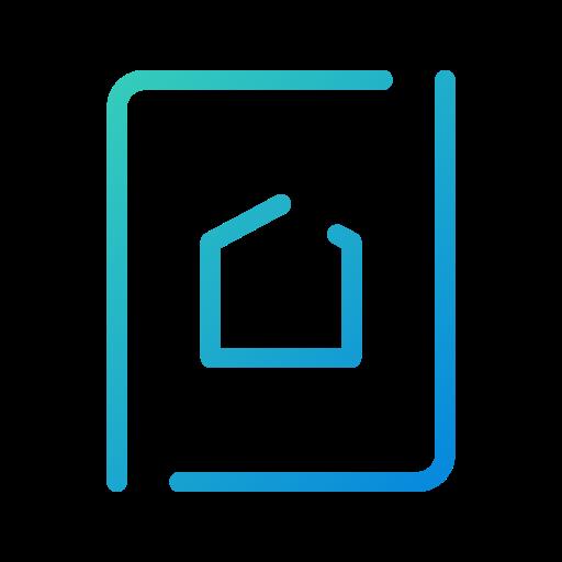 app, home, homescreen, mobile, open line, screen, settings icon
