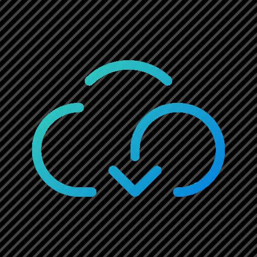 backup, cloud, download, mobile, storage, transfer, ui icon
