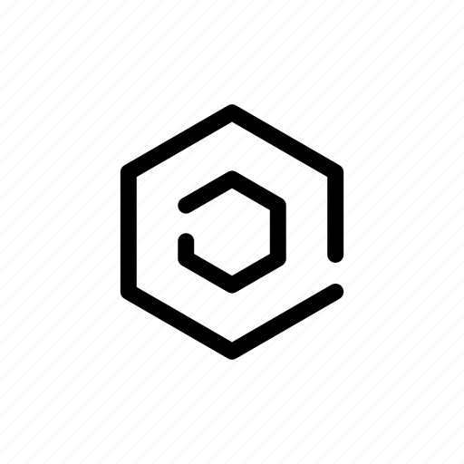 concentric, copywrite, corporate, hexagon, options, tech, technology icon