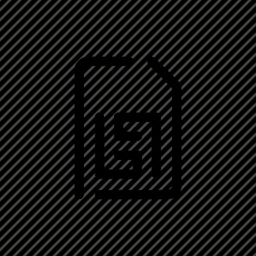 card, chip, data, memory, phone, sim, storage icon
