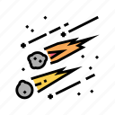 meteors, system, galaxy, falling, milky, space icon