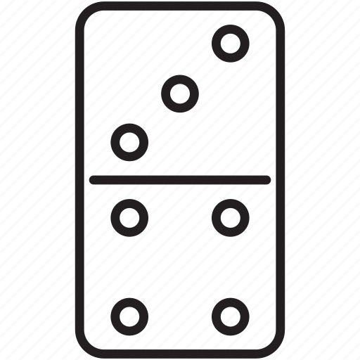 domino, gambling, game, luck, playing icon