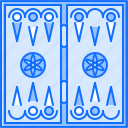 backgammon, board, fun, game, party icon