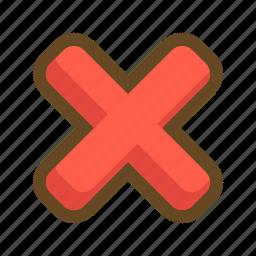 cancel, close, delete, exit, remove, trash, x icon