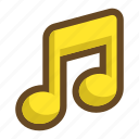 happy, note, pleasant, song, sound, volume icon