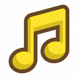 happy, note, pleasant, song, sound, volume icon